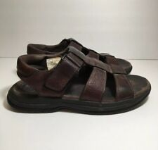Rockport Mens Leather Strap Casual Walking Sandals Brown Size 9 US