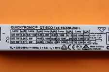 Osram Quicktronic QT-ECO 1x4-16 Electronic Ballast for 1 x 5 7 9 10 11 13 16w