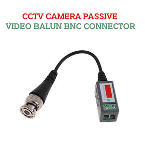 Passive Video Balun BNC Connector For CCTV Camera & Coaxial Cable Adapters PR HD