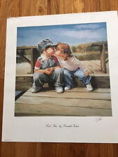 "Donald Zolan – Signed Numbered Litho – ""First Kiss"" – 12/880 - COA"