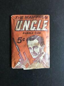 SCANLENS PLAYTIME VINTAGE RARE 1960's MAN FROM U.N.C.L.E 5c  WAX PACK, UNOPENED