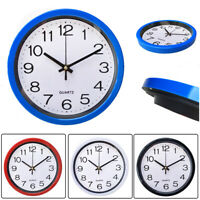Silent Wall Clock Simplicity  Round Quartz Bell Battery Operated Wall Clock-