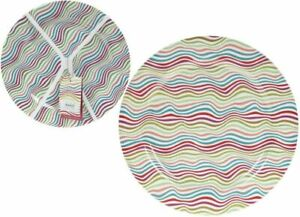 4x Brushed Stripes Melamine Dinner/Lunch Food Plastic 25cm Plates Camping Picnic