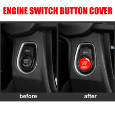 Car Engine Start Stop Button Cover Cap Red For BMW X5 X6 3 Series E90 E91 E92 E9