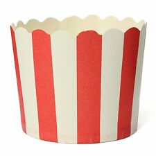 50X Cupcake Wrapper Paper Cake Case Baking Cups Liner Muffin Red Stripes BT