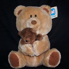 Dakin Baby Things Brown Bear Mama and Baby Bear Cubbies Plush Corduroy Feet 1984