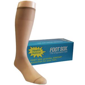 Unisex Nylon Try On Disposable Socks - Knee High