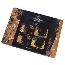 4er Set Platzsets, Tischsets Gustav Klimt mit 4 Motiven 40x29cm Goebel