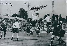 Tom FINNEY & Nat LOFTHOUSE SIGNED Autograph England 12x8 Photo AFTAL COA Genuine