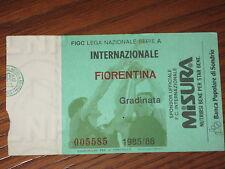 INTER FIORENTINA BIGLIETTO TICKET CALCIO 1985/86 SERIE A