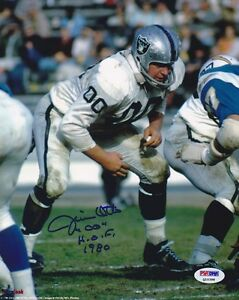 Jim Otto SIGNED 8x10 Photo + HOF 1980 Oakland Raiders PSA/DNA AUTOGRAPHED