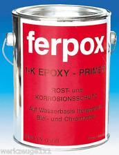 Fertan Rostschutz & Korrosionsschutz FERPOX 1-K Epoxy Grundierung Primer 2,5 Kg