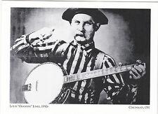 """Louis ""Grandpa"" Jones"" /Banjo-1950''s/ @ Cincinnati Sound  {Postcard}"