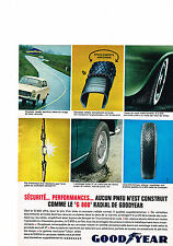 PUBLICITE ADVERTISING  1964   GOODYEAR  pneu