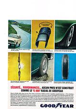 PUBLICITE ADVERTISING  1964   GOODYEAR  pneu