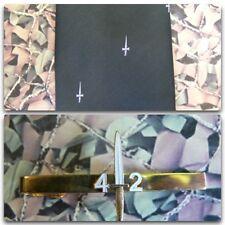 42 Commando Royal Marines (Crest) Tie Set With 42 Commando Tie Bar (white dag)