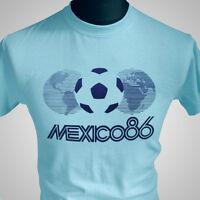Mexico 86 Retro Football Soccer T Shirt FIFA World Cup 1986 Maradona Vintage