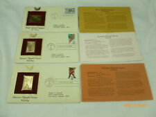 Olympic Games Gold Cover Stamp Replica 1984 1985 Lot of 3 Stamps NEW Sealed