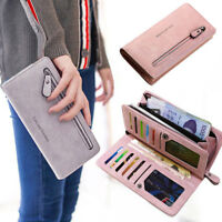 Women Ladies Clutch Leather Wallet Long Card Holder Phone Bag Case Purse Handbag