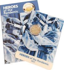 2 Euro Malta 2021 st Helden der Pandemie in Coincard CC Folder Pandemic Sofort