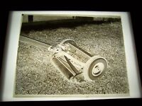 "ANTIQUE 8"" X 10"" GLASS PHOTOGRAPH NEGATIVE  OF LAWN MOWER"