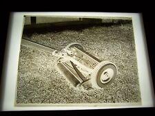 "ANTIQUE 8"" X 10"" GLASS PHOTOGRAPH NEGATIVE  OF LAWN MOWER"