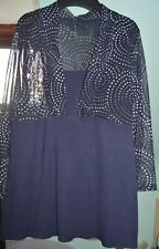 M&S size 16 new jersey top-never worn/navy