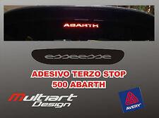 ADESIVO STICKERS PER TERZO STOP FIAT ABARTH 500 ESSESSE