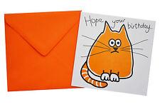 NEW BIRTHDAY CARD: Purrrfect 'CAT', orange envelope!
