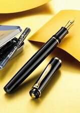 Pelikan Classic P200 Fountain Pen Black 24K Gold Plated Converter Nib EF,F,M,B
