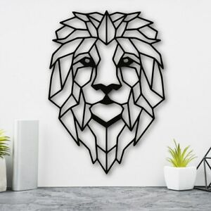 Lion Head Geometric Wall Art Home Living room Bedroom Decor large size