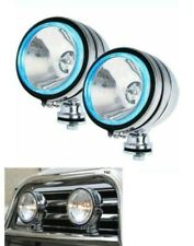 "2x 6"" CHROME BLUE ANGEL EYE HALOGEN SPOT LIGHT FOG CAR SPOT LIGHTS 4x4 JEEP NEW"