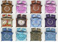 Indian Reversible Queen Duvet Cover Blanket Mandala Doona Comforter Cover Throw