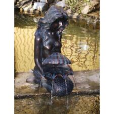 Michelle Mermaid Water Feature, Spitter fountain water garden ponds, yard decor