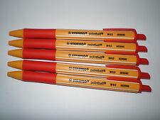5x Stabilo pointball rot 6030/40 Druck-Kugelschreiber Kuli 0,5mm nachfüllbar