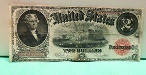 1917 $2 Red Seal US Note Fine +  Speelman/White