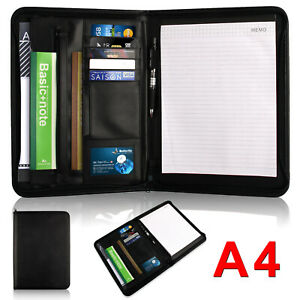 A4 Conference Folder Folio Case Clipboard PU Leather Business Document Organiser