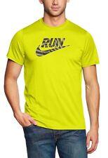 Nike Run Swoosh Legend Running Training Mens X-Large Yellow Dri-Fit 583808 Xl