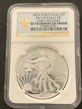 2013 WEST POINT American SILVER EAGLE NGC SP 70 ENHANCED FINISH #032