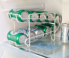 Beverage Soda Coke Can Dispenser Storage Rack Refrigerator Kitchen Organizer