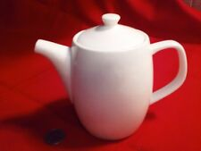 """Rosee Blanche 2 Cup Ceramic Teapot 5 1/2"""" tall, excellent, no chips or cracks"""