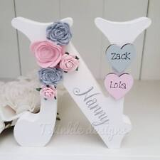 Mother's day freestanding personalised roses wooden Mum Nanny 15cm letter gift