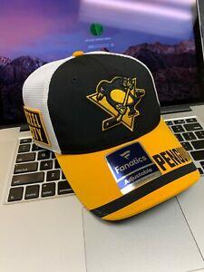 Pittsburgh Penguins NHL Fanatics Adjustable Hat STEEL CITY LOGO Unique NEW NWT