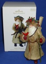 """Hallmark Series Ornament Father Christmas #7 2010 Santa Claus in """"Leather"""" Robe"""