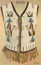 1940s Native American beaded vest NON POSTCARD BACK card 11120
