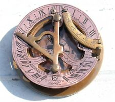 Antique Copper Collectible Nautical Brass Pocket Compass Vintage Maritime Item.