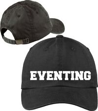 Eventing Baseball Cap Horse Lovers Hat with Soft Feel Lettering.