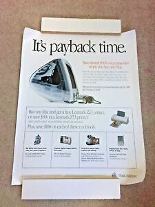 Vintage Apple It's Payback Time Poster
