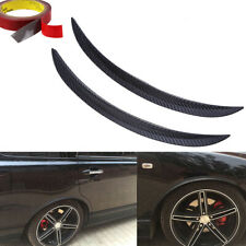 2x42cm Carbon Fiber Car Wheel Eyebrow Protector Decor Arch Trim Flare Fender Lip