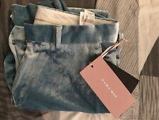 NWT Zara Man Party Collection Size 31 Sky Blue Velvet Pants